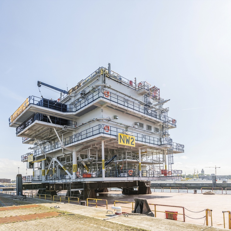 Port Oostende project cargo offshore high voltage station